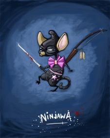 A mixture of a chiwawa and a ninja.