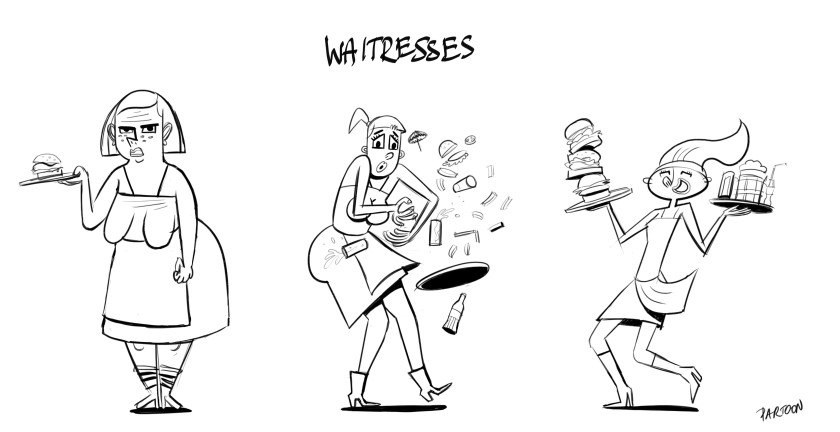 waitress, character design