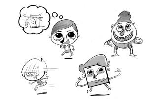 character design, boy