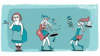 character design, waitress, opdienster, horeca